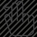 gesture, hand, swipe, swipe left icon
