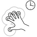 finger, five, gestureworks, hold icon