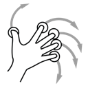finger, five, gestureworks, rotate icon