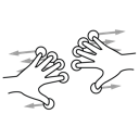 finger, five, gestureworks, split icon
