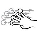 finger, flick, four, gestureworks