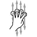 finger, four, gestureworks, scroll