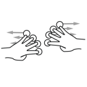 finger, four, gestureworks, split icon