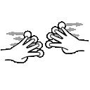 finger, four, gestureworks, split