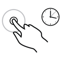 finger, gestureworks, hold, one icon
