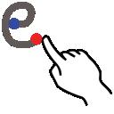 stroke, letter, e, lowercase, gestureworks