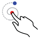 gestureworks, left, shape, spiral, stroke icon