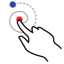 gestureworks, right, shape, spiral, stroke icon