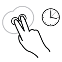 finger, gestureworks, hold, two icon