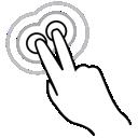finger, gestureworks, tap, triple, two
