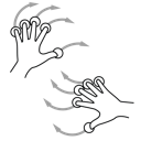 gestureworks, hand, rotate, two