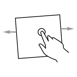 drag, gestureworks, media icon
