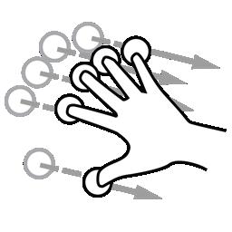 finger, five, flick, gestureworks icon