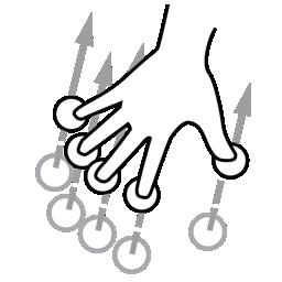 finger, five, gestureworks, swipe icon