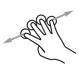 drag, finger, four, gestureworks icon