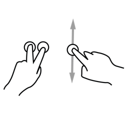 finger, gestureworks, plus, precise, tilt, two icon