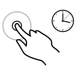 finger, gestureworks, hold, one icon