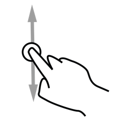 finger, gestureworks, one, scroll icon