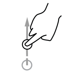 finger, gestureworks, one, swipe icon