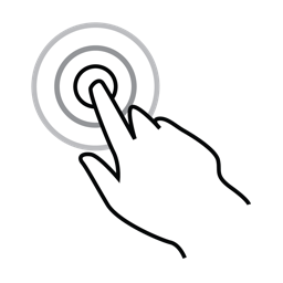 finger, gestureworks, one, tap, triple icon