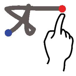 gestureworks, greek, pi, stroke icon