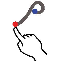 gestureworks, greek, rho, stroke icon