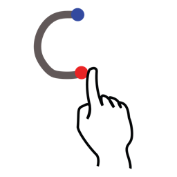 c, gestureworks, letter, stroke, uppercase icon