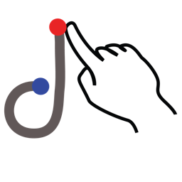 d, gestureworks, letter, lowercase, stroke icon
