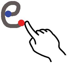 e, gestureworks, letter, lowercase, stroke icon