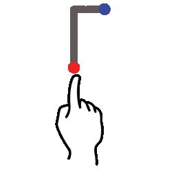 f, gestureworks, letter, stroke, uppercase icon