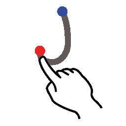 gestureworks, j, letter, stroke, uppercase icon