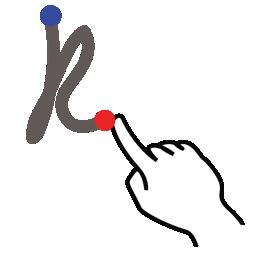 gestureworks, k, letter, lowercase, stroke icon