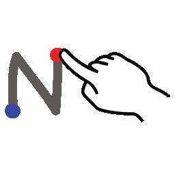 gestureworks, letter, n, stroke, uppercase icon