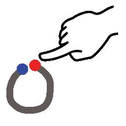 gestureworks, letter, o, stroke, uppercase icon
