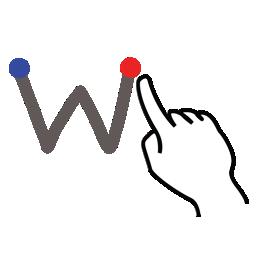 gestureworks, letter, lowercase, stroke, w icon