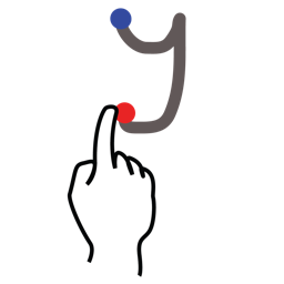 gestureworks, letter, stroke, uppercase, y icon