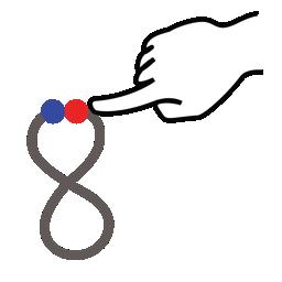 eight, gestureworks, number, stroke icon