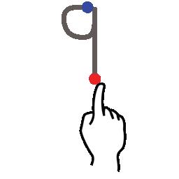 gestureworks, nine, number, stroke icon