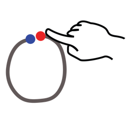 gestureworks, number, stroke, zero icon