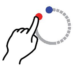 circle, gestureworks, shape, stroke icon
