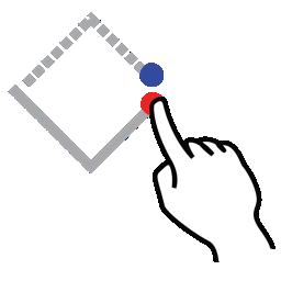 diamond, gestureworks, shape, stroke icon