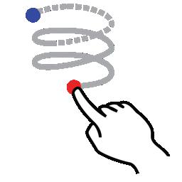 gestureworks, helix, left, shape, stroke icon