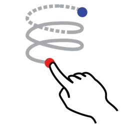 gestureworks, helix, right, shape, stroke icon