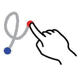 gestureworks, loop, right, shape, stroke icon