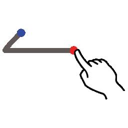 arrow, gestureworks, left, stroke icon
