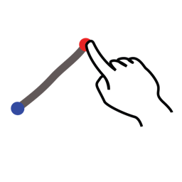 divide, gestureworks, stroke icon