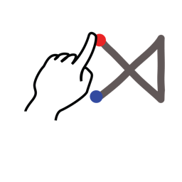gestureworks, multiply, stroke icon