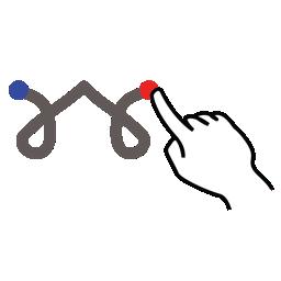 gestureworks, percent, stroke icon