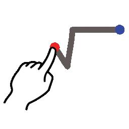 gestureworks, root, square, stroke icon