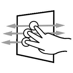 aggressive, finger, gestureworks, pan, three icon